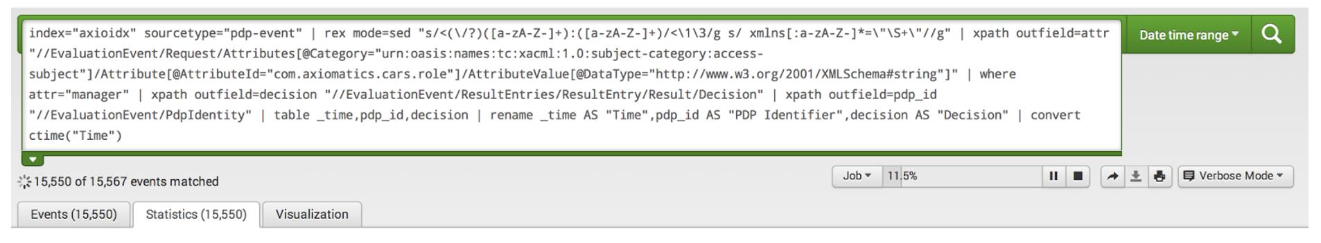 Leveraging Splunk to Aggregate Axiomatics Policy Server Log